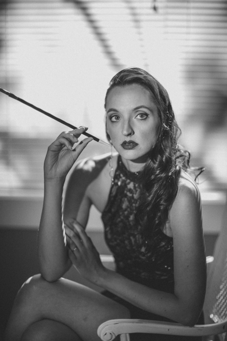 vintage Hollywood film noir portraits